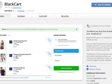Chrome Extension - 3 ( BlackCart )