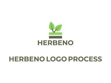 Herbeno logo design process (click for full project!)