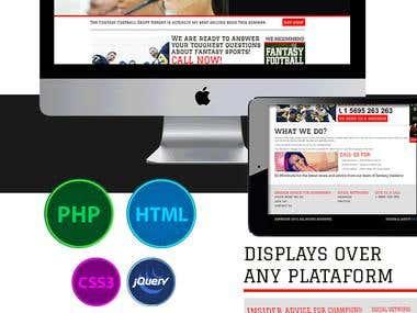 Web Site Design for 800Fantasy.com