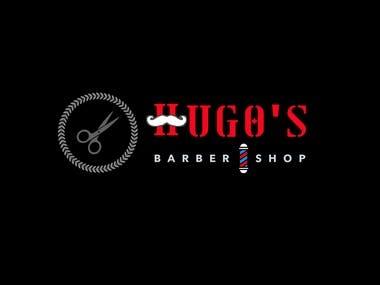 hugo barber logo design