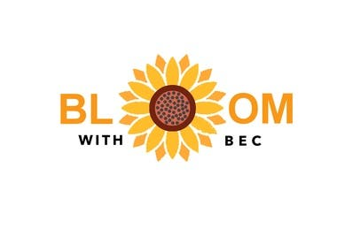 bloom with bec logo design