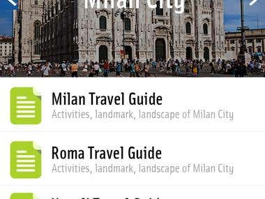 Travel Guide Application Template