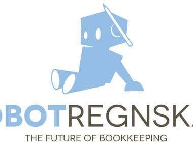 RobotRegnskab Logo Design Contest Won