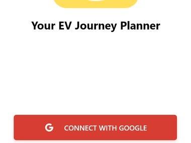 EV Journey Planner app