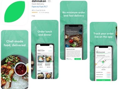 Dahmakan food delivery app on iTunes App Store