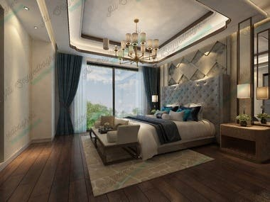 Bedroom design and render