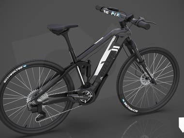 3D mountain bike realistic rendering