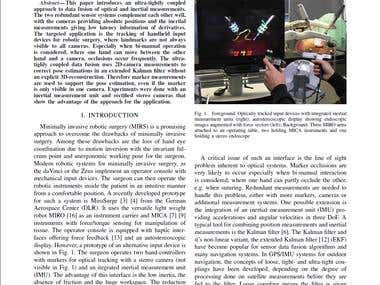 Towards accurate motion compensation in surgical robotics