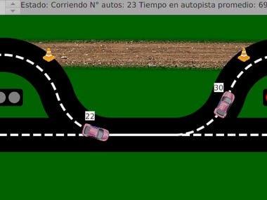 Traffic Simulation written in JavaFX