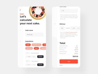 Baking calculator app.