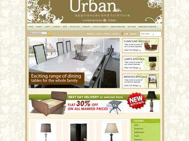 web design for http://urbanfurnituresuperstore.com.au/