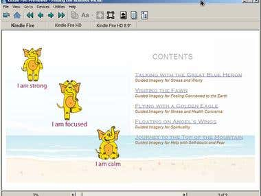 Children book fixed format epub & mobi