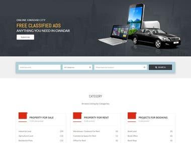 Web Design : Online Gwadar City