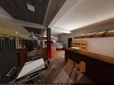 3D look of an office