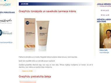 Homepage saulessalons.lv