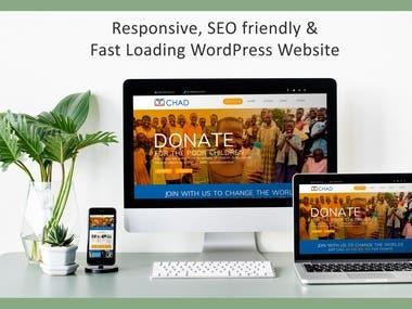 A beautiful WordPress website