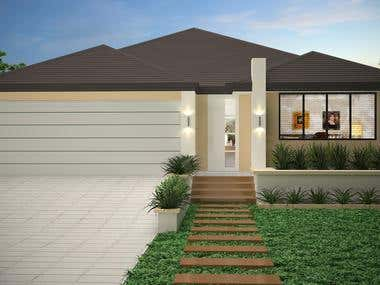3d-Rendering of Australian House