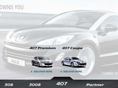 Banner for Peugeot