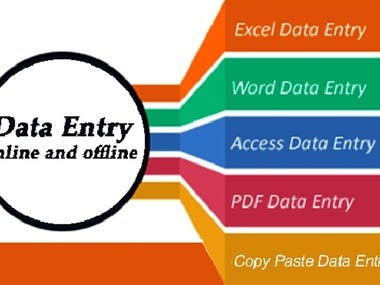 I will do data entry, internet research and data mining