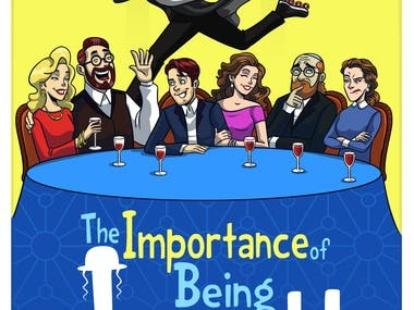 Comedy Drama Poster Design