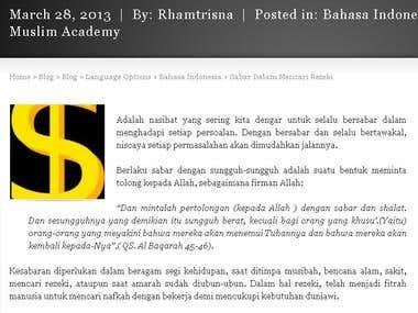 Islamic Theme Blogger