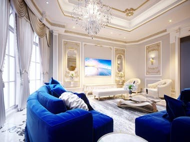 SEATING AREA - VILLA DUBAI