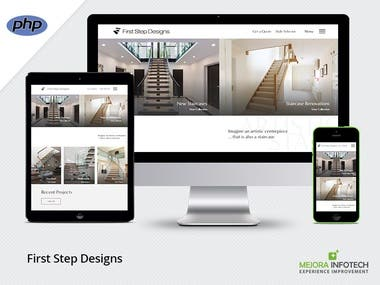 Staircases showcasing website.