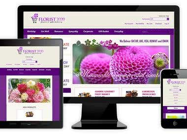 Flowers Ecommerce Website - www.florist2020.com
