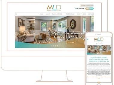 Website - Front End for Interior Design Firm