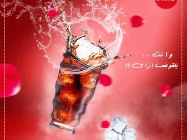 Cocacola - Social media poster