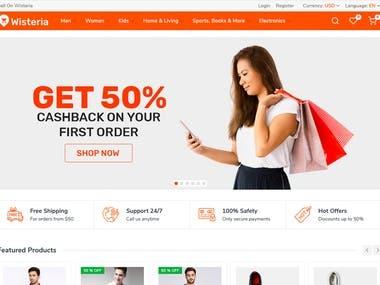 Wisteria - Multi Vendor eCommerce solution