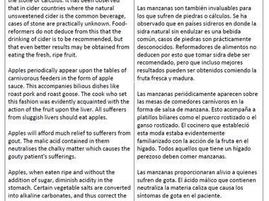 English to Spanish translations