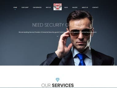 Security service website