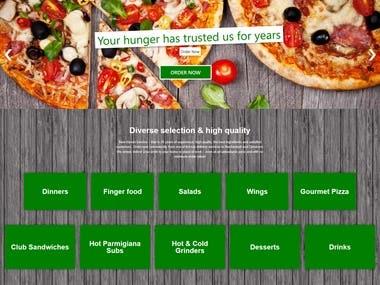 Pizza Webshop | E-commerce Online Shop