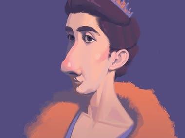 Cartoon character portrait