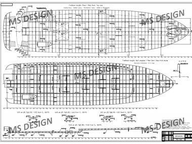 Hull construction detail drawing