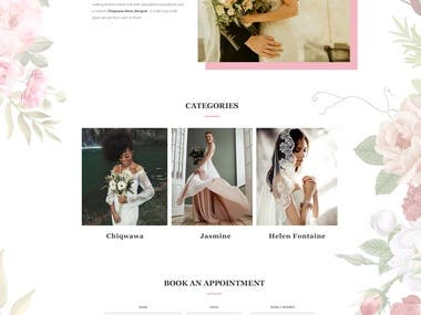 Bridal web Mockup