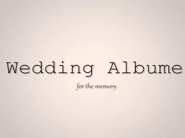 Video of Wedding album