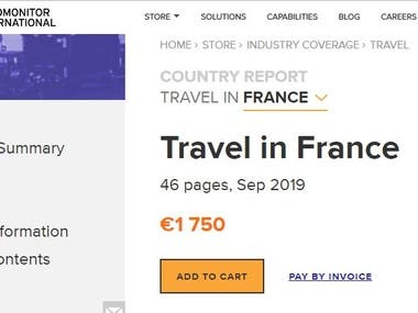 Market study on Travel Industry in France
