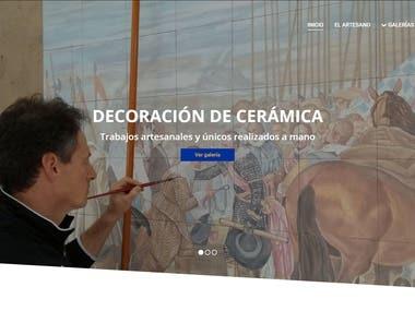 Web corporativa artesano Miguel Ángel