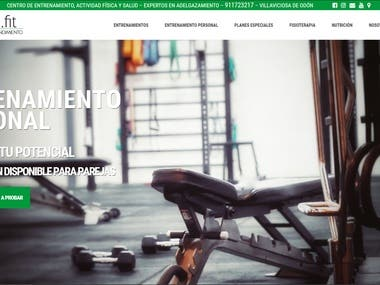 Diseño web WordPress corporativo Evolutio Fit