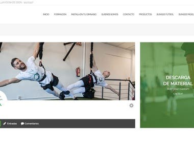 Intranet WordPress/Woocommerce para Bungee Airfit