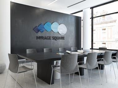 Mirage square | Logo, branding