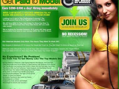 Ad for models