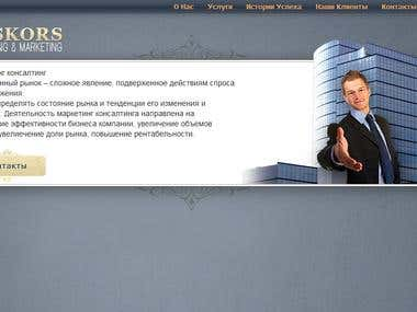 Website design for consulting company