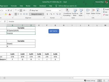 Compile all excel files data of a folder in a central file