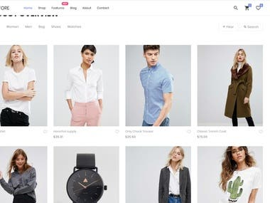 eCommerce Website (React JS)
