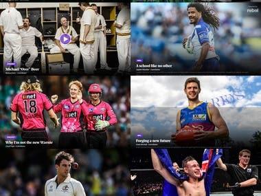 Sports News in Wordpress