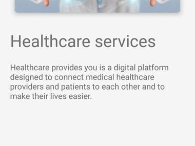 Healthcare services app