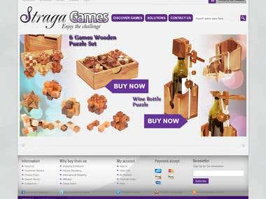 Straga Games Ecommerce Site